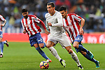 Cristiano Ronaldo of Real Madrid competes for the ball with Sergio Alvarez Diaz of Real Sporting de Gijon during the La Liga match between Real Madrid and Real Sporting de Gijon at the Santiago Bernabeu Stadium on 26 November 2016 in Madrid, Spain. Photo by Diego Gonzalez Souto / Power Sport Images