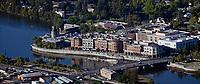 aerial photograph of central Napa riverfront, Napa, California
