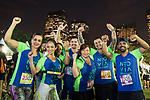 Runners compete during the Bloomberg Square Mile Relay race in Parque do Povo on 23 August 2018, in Sao Paulo, Brazil. Photo by Stringer / Power Sport Images
