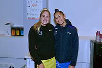 Maddy Gordon of the Pulse and Tayla Earle of the Mystics, ANZ Premiership Netball - Te Wānanga o Raukawa Pulse v Northern Mystics at TSB Bank Arena, Wellington, New Zealand on Monday 10 May 2021.<br /> Photo by Masanori Udagawa. <br /> www.photowellington.photoshelter.com