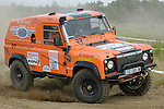 Custom built Land Rover Defender racing at the Rallye Dresden Breslau 2007.  --- No releases available. Automotive trademarks are the property of the trademark holder, authorization may be needed for some uses.