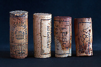 natural corks of different ages and lengths