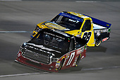 #17: David Gilliland, DGR-Crosley Toyota Tundra Crosley Brands / Frontline Enterprises / DGR CROSLEY and #98: Grant Enfinger, ThorSport Racing, Ford F-150 Protect The Harvest/Curb Records