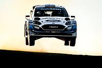 10th October 2020, Alghero, Sardinia, Italy; WRC Rally of Sardinia;   Suninen  gets airborne