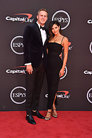 LOS ANGELES, USA. July 10, 2019: Jared Goff & Christen Harper at the 2019 ESPY Awards at the Microsoft Theatre LA Live.<br /> Picture: Paul Smith/Featureflash