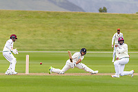 20th November 2020; John Davies Oval, Queenstown, Otago, South Island of New Zealand. NZ A's Rachin Ravindra clips through the slips