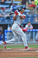 Lakewood BlueClaws shortstop J.P. Crawford #2 swings at a pitch during a game against the Asheville Tourists at McCormick Field on May 2, 2014 in Asheville, North Carolina. The Tourists defeated the BlueClaws 14-3. (Tony Farlow/Four Seam Images)