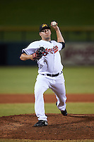 Mesa Solar Sox pitcher David Speer (37), of the Cleveland Indians organization, during a game against the Salt River Rafters on October 22, 2016 at Sloan Park in Mesa, Arizona.  Salt River defeated Mesa 7-2.  (Mike Janes/Four Seam Images)