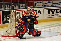 Goalie Daniel Larsson (Djurgardens)<br /> Djurgardens IF vs. Lelea HF<br /> *** Local Caption *** Foto ist honorarpflichtig! zzgl. gesetzl. MwSt. Es gelten ausschließlich unsere unter <br /> <br /> Auf Anfrage in höherer Qualitaet/Aufloesung. Belegexemplar an: Marc Schueler, Am Ziegelfalltor 4, 64625 Bensheim, Tel. +49 (0) 6251 86 96 134, www.gameday-mediaservices.de. Email: marc.schueler@gameday-mediaservices.de, Bankverbindung: Volksbank Bergstrasse, Kto.: 151297, BLZ: 50960101