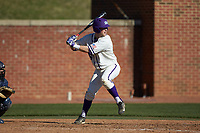 Spencer Brown (26) of the High Point Panthers at bat against the NJIT Highlanders at Williard Stadium on February 19, 2017 in High Point, North Carolina. The Panthers defeated the Highlanders 6-5. (Brian Westerholt/Four Seam Images)