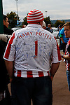 Stoke City 1 West Bromwich Albion 1, 24/09/2016. Bet365 Stadium, Premier League. Bearded Stoke fan with an autographed shirt bearing the name 'Hairy Potter'. Photo by Paul Thompson.