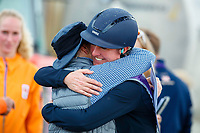 The new FEI European Eventing Champion, Nicola Wilson, celebrates. 2021 SUI-FEI European Eventing Championships - Avenches. Switzerland. Sunday 26 September 2021. Copyright Photo: Libby Law Photography
