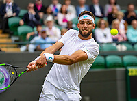 London, England, 1  st July, 2019, Tennis,  Wimbledon, Jiri Vessely (CZE)<br /> Photo: Henk Koster/tennisimages.com