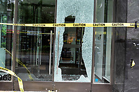 NEW YORK, NEW YORK - JUNE 2: A store is seen after a night of looting due to protest on June 2, 2020 in New York City. Protests spread across the country in at least 30 cities across the United States, over the death of unarmed black man George Floyd at the hands of a police officer, this is the latest death in a series of police deaths of black Americans. New York face it's second night of a curfew (Photo by Joana Toro / VIEWpress via Getty Images)