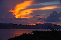 Sunset from Cruz Bay overlook<br />
