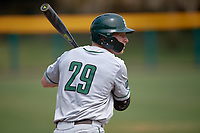 Dartmouth Big Green third baseman Steffen Torgersen (29) on deck during a game against the USF Bulls on March 17, 2019 at USF Baseball Stadium in Tampa, Florida.  USF defeated Dartmouth 4-1.  (Mike Janes/Four Seam Images)