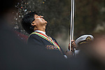 ©PATRICIO CROOKER<br /> La Paz Bolivia<br /> A picture dated March 23, 2015 shows Bolivian President Evo Morales attending the ceremony to commemorate the loss of the access to the sea because of the conflict with Chile, the Pacific War in 1879.Every March 23, there are military parades in honor of the hero of the Pacific War Eduardo Avaroa.