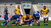 13th September 2020; AJ Bell Stadium, Salford, Lancashire, England; English Premiership Rugby, Sale Sharks versus Bath; WillGriff John of Sale Sharks is tackled