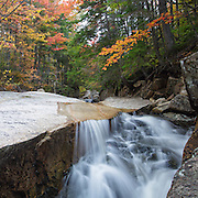 """This is the image for September in the 2014 White Mountains New Hampshire calendar. A section of rocky gorge just above the """"other"""" Pitcher Falls, located on the South Fork of the Hancock Branch in the White Mountains, New Hampshire USA. Purchase the calendar here: http://bit.ly/1audUBp ."""