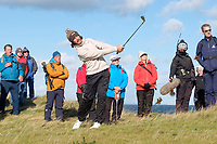 1st October 2021; Kingsbarns Golf Links, Fife, Scotland; European Tour, Alfred Dunhill Links Championship, Second round; Tommy Fleetwood of England plays from the rough on the fifth hole at Kingsbarns Golf Links