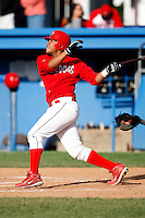 July 18, 2009:  Catcher Ivan Castro of the Batavia Muckdogs during a game at Dwyer Stadium in Batavia, NY.  The Muckdogs are the NY-Penn League Short-Season Class-A affiliate of the St. Louis Cardinals.  Photo By Mike Janes/Four Seam Images