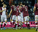 18/01/2011   Copyright  Pic : James Stewart.sct_jsp015_kilmarnock_v_hearts  .:: STEPHEN ELLIOT IS CONGRATULATED AFTER HE SCORES HEARTS FIRST WITH AN OVERHEAD KICK ::.James Stewart Photography 19 Carronlea Drive, Falkirk. FK2 8DN      Vat Reg No. 607 6932 25.Telephone      : +44 (0)1324 570291 .Mobile              : +44 (0)7721 416997.E-mail  :  jim@jspa.co.uk.If you require further information then contact Jim Stewart on any of the numbers above.........