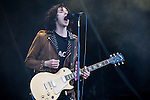 © Joel Goodman - 07973 332324 . 05/06/2015 . Manchester , UK . PEACE on stage . Evening concerts featuring headliners , The Courteeners , playing a homecoming gig , at Heaton Park in Manchester in front of 25,000 people , the evening before the Parklife music festival . Photo credit : Joel Goodman