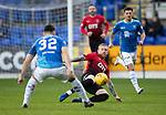 St Johnstone v Kilmarnock…24.11.18…   McDiarmid Park    SPFL<br />Alan Power slides in on Tony Watt<br />Picture by Graeme Hart. <br />Copyright Perthshire Picture Agency<br />Tel: 01738 623350  Mobile: 07990 594431