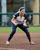 Michigan Wolverines utility player Kelsey Susalla (7) during the season opener against the Florida Gators on February 8, 2014 at the USF Softball Stadium in Tampa, Florida.  Florida defeated Michigan 9-4 in extra innings.  (Copyright Mike Janes Photography)