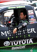 Apr 16, 2010; Surprise, AZ USA; LOORRS pro 2 unlimited driver Jeremy McGrath during practice for round 3 at Speedworld Off Road Park. Mandatory Credit: Mark J. Rebilas-US PRESSWIRE