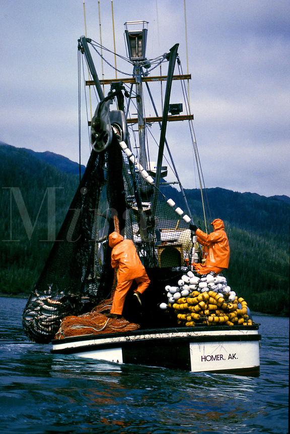 Commercial Fishing, Salmon Seiner. Prince William Sound, Alaska.