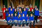 The class of 2021 former students of Nagle Rice NS Milltown receiving their Confirmation in the Church of the Sacred Heart, Milltown on Monday, with Decon Conor Bradley, Fran Flynn (Teacher),  Mary Ellen O'Connor, Fr Danny Broderick and Liam Fells (Principal.