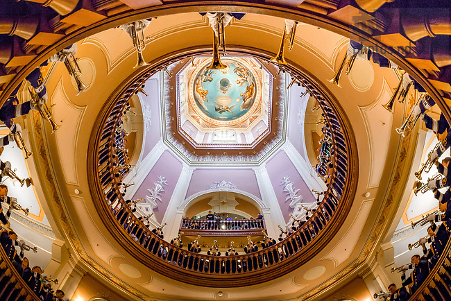 October 28, 2017; Trumpets Under the Dome (Photo by Matt Cashore/University of Notre Dame)