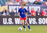 PHILADELPHIA, PA - AUGUST 29: Morgan Brian #6 of the United States warms up prior to a game between Portugal and the USWNT at Lincoln Financial Field on August 29, 2019 in Philadelphia, PA.