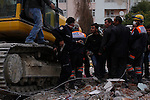 VAN, TURKEY: Tensions flare during the cleanup after a 7.2 magnitude earthquake hit eastern Turkey...On October 23, 2011, a 7.2 magnitude earthquake hit eastern Turkey killing over 250 people and wounding over a thousand...Photo by Ali Arkady/Metrography