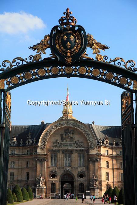 The entrance of Hotel les Invalides. Paris. city of Paris. France