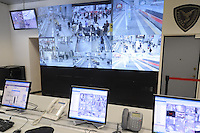- Polizia Ferroviaria, sala di controllo del sistema di videosorveglianza alla Stazione Centrale di Milano<br /> <br /> - Control room of video surveillance system at Milan Central Station