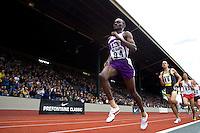 EUGENE, OR--From left,  Nicodemus Naimadu Steve Slattery Yoshitaka Iwamizu compete in the men's 3000m steeplechase at the Steve Prefontaine Classic, Hayward Field, Eugene, OR. SUNDAY, JUNE 10, 2007. PHOTO © 2007 DON FERIA