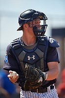 New York Yankees catcher Josh Breaux (20) during a Florida Instructional League game against the Philadelphia Phillies on October 11, 2018 at Yankee Complex in Tampa, Florida.  (Mike Janes/Four Seam Images)