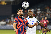 KANSAS CITY, KS - JULY 15: Christian Roldan #10 of the United States during a game between Martinique and USMNT at Children's Mercy Park on July 15, 2021 in Kansas City, Kansas.