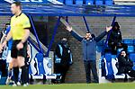 St Johnstone v St Mirren…16.01.21   McDiarmid Park     SPFL<br />Saints manager Callum Davidson appeals to referee Steven McLean<br />Picture by Graeme Hart.<br />Copyright Perthshire Picture Agency<br />Tel: 01738 623350  Mobile: 07990 594431