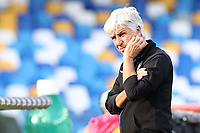 Gian Piero Gasperini coach of Atalanta BC dejection<br /> during the Serie A football match between SSC Napoli and Atalanta BC at stadio San Paolo in Napoli (Italy), October 17th, 2020. <br /> Photo Cesare Purini / Insidefoto