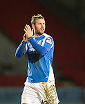 St Johnstone v Aberdeen.....30.01.13      SPL.Rowan Vine applauds as he is subbed.Picture by Graeme Hart..Copyright Perthshire Picture Agency.Tel: 01738 623350  Mobile: 07990 594431
