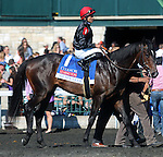 April 19, 2014 Mr Speaker and rider Jose Lezcano after winning the Coolmore Lexington Stakes.