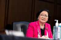 United States Senator Mazie Hirono (Democrat of Hawaii), speaks during a business meeting portion on the fourth day of the confirmation hearing for Judge Amy Coney Barrett, President Donald Trump's Nominee for Supreme Court, in Hart Senate Office Building in Washington DC, on October 15th, 2020.<br /> Credit: Anna Moneymaker / Pool via CNP /MediaPunch