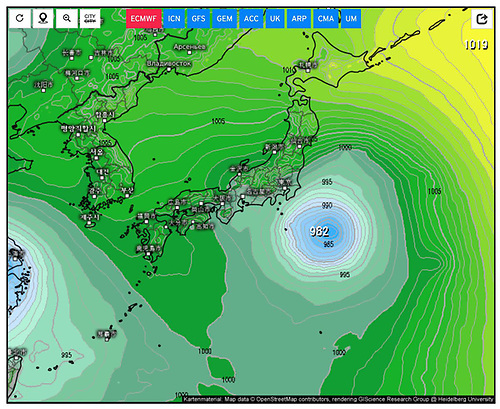 Weather modellers are saying there could be a typhoon headed for Tokyo on Sunday or Monday