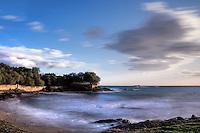The coast of Lagonissi in Attiki, Greece