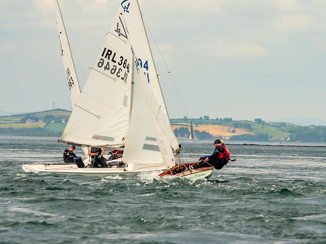 Tight racing in the Flying Fifteen class at the Narrows Regatta