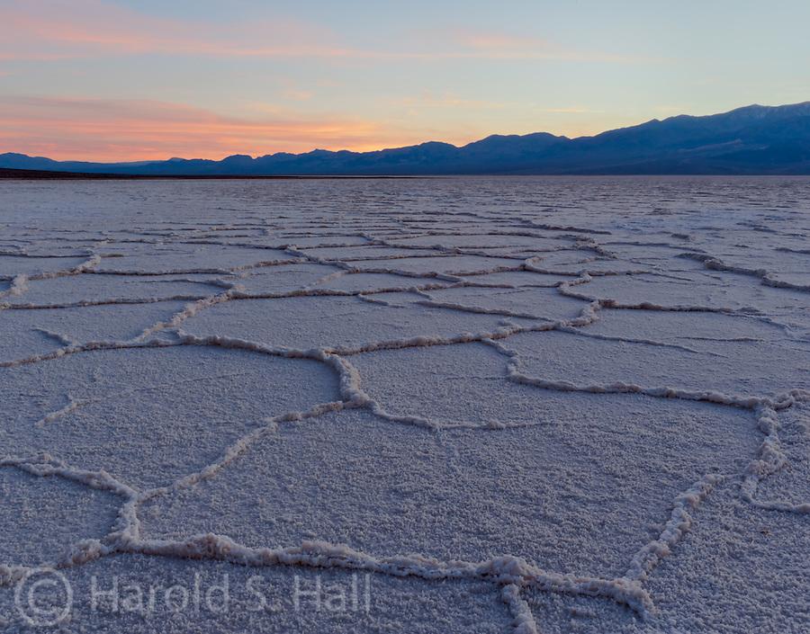 Death Valley Badwater salt flats.