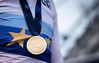 Mathieu Van der Poel's (NED) golden medal as european champion<br /> <br /> UEC CYCLO-CROSS EUROPEAN CHAMPIONSHIPS 2018<br /> 's-Hertogenbosch – The Netherlands<br /> Men Elite Race